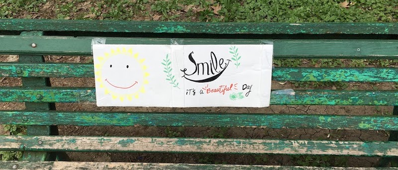 smile cards in park