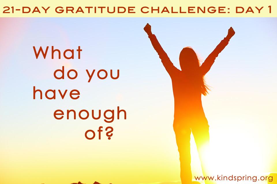 21 days gratitude challenge