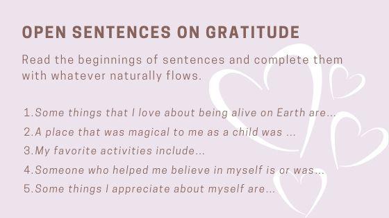 simple gratitude exercise